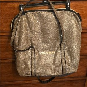 Gold glitter Victoria secret bag